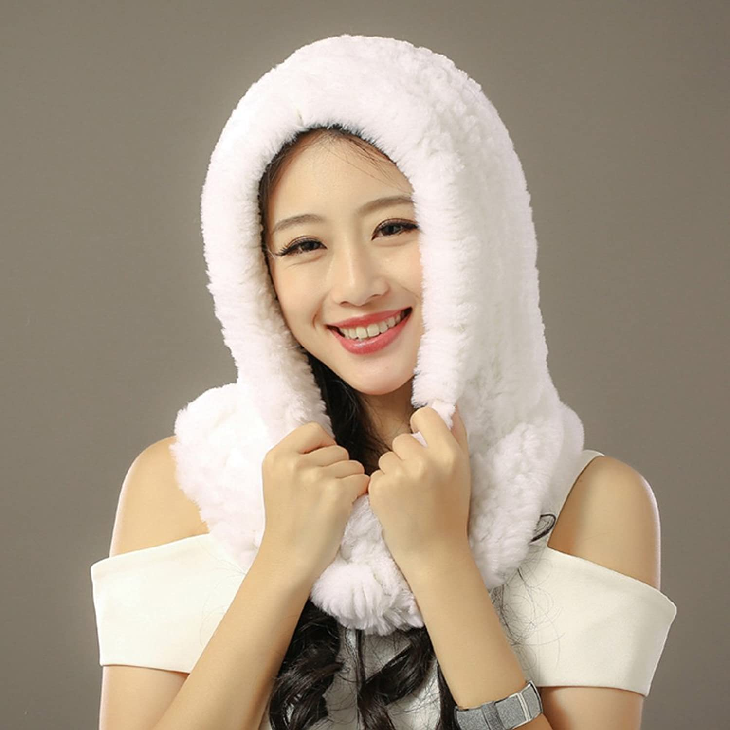 ZHIRONG Hat Fashion Elegant Winter Thickening Ms Scarf Hat (color Multiple Choice)