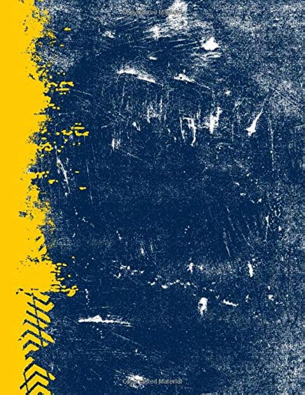 女優暴露する忘れるBlue And Maize: (8.5x11 Dot Grid) Blank Journal Grunge School Color Notebook