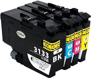 ◆brother◆【ブラザー LC3133互換インクカートリッジ 4色セット(BK・Y・M・C)DCP-J988N MFC-J1500N 最新インク残量表示対応チップ付き】顔料 1年保証付き