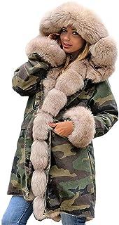 2019 Fashion Woman Coat Inverno Warm Faux Fur Jacket Giacche Spesse Piumino Con Cappuccio Stile Militare Parka Cappotto Co...