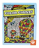 Color counts coloring book with hot air balloons on the cover