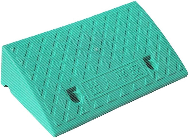 Grüne Kunststoff Slope Pad, Straße Zahn Slope Pad Außenrampe Pad Hotel Eingang Dreieck Pad Multifunktions Slope Pad (Farbe   Grün, größe   50  27  7CM) B07MG4NH5S   | Haben Wir Lob Von Kunden Gewonnen