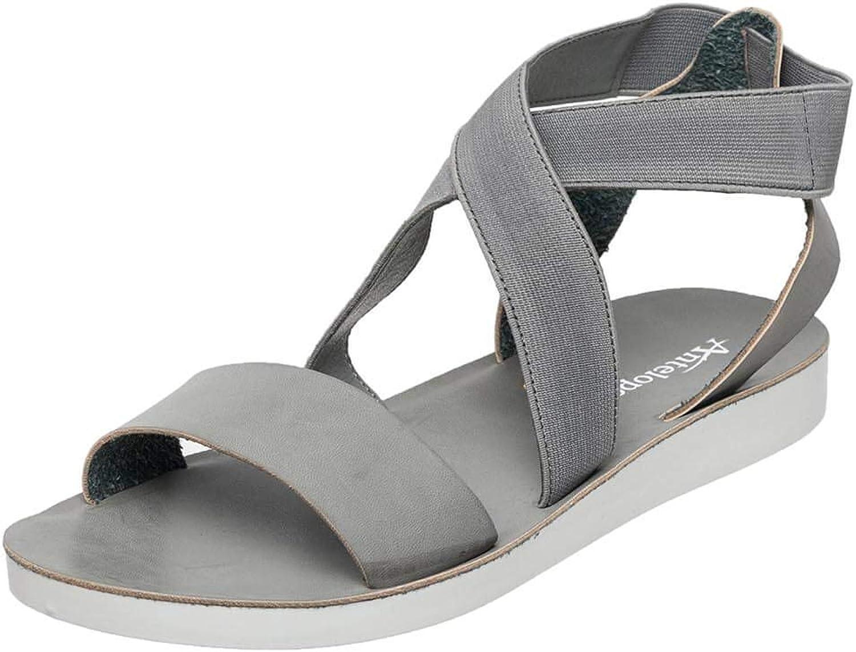 Antelope Women's Picnic Faux Leather Flat Flat Sandals