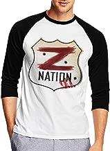 Long Sleeve T Shirt Men, Giacomo Badali Mens Z Nation Vs TWD Logo Long Sleeve Tee Classic Casual Jersey