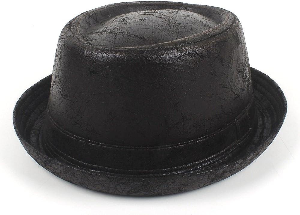 sun hat Flat Top Sales for sale Hat Vintage Fedora pork Men Product Leather pie Boa