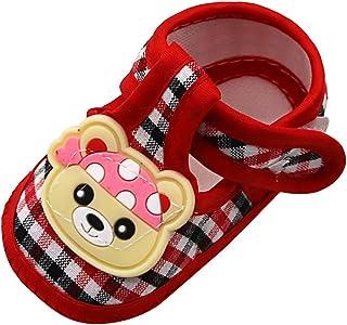 f3dac37c8f Seringlings Bebé Niña Zapato de Princesa con Cinta Mágica para 6-18 Meses  Niños Primeros