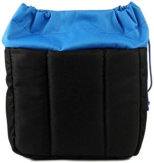 GenialES Organizador Acolchado Protector Antichoques de Oxford para Cámaras SLR DSLR Bridge CSC con 2 Separadores Desmontables para Bolso Morral Azul 22*20*12cm