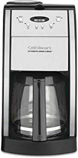 Cuisinart DGB-550BKFR 12 Cup Grind and Brew Automatic Coffee Maker (Renewed), Chrome