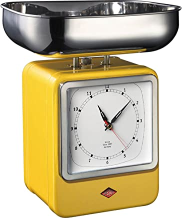 (Lemon Yellow) - Retro Scales with Clock Lemon Yellow