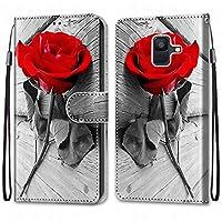 Laybomo Samsung Galaxy A6 (2018) / A600F ケース カバー 手帳型, [カードスロット]および[キックスタンド]付きの磁気閉鎖完全保護設計ウォレットフリップ 財布型カバー対応 Galaxy A6 (2018) / A600F電話ケース, 塗る 4