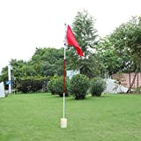 ttnight Golf Flag Stick, Backyard 3 Section Practice Golf Hole Pole Cup Flag