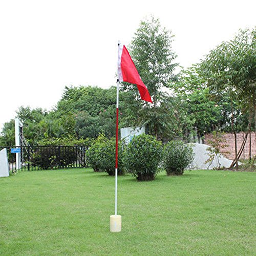 Lowest Price! ttnight Golf Flagsticks,Backyard 3 Section Practice Golf Pin Pole Flags Hole Cup Set P...