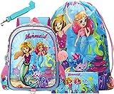 HTgroce - Mochila para niños y niñas, Mochilas Escolares de Sirena para niñas, Mochilas con cordón, Estuche para...