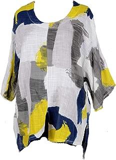 Damen Shirt Tunika Longshirt Sommer Hängerchen kurzarm Viskose 42 44 46