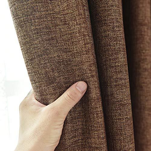 fgdsa Thermische Dimout Vorhang,verdicken Verschleißfeste Licht Blocken Vorhang,Anti-verfärbung Rohe Flachsfensterbehandlung,1 Stück-e 150x270cm(59x106inch)