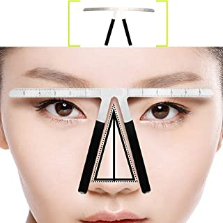 Pinkiou Three-Point Positioning Eyebrow Tattoo Balance Ruler Embroidery Measurement Tool Permanent Makeup Shaper Grooming Stencil Caliper Symmetrical Curvature Tool