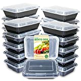 Enther Meal Prep Containers [20 Pack] Single 1 Compartment with Lids, Food Storage Bento Box | BPA...