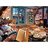 Nattork Cozy Room Jigsaw Puzzle - 1000 Piece Puzzle for Adult and Kids