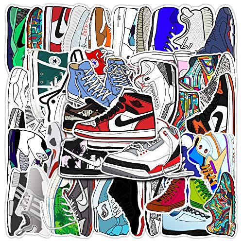 YZFCL Dibujos animados marea marca zapatillas graffiti pegatinas maleta portátil scooter decoración pegatinas 50 unids