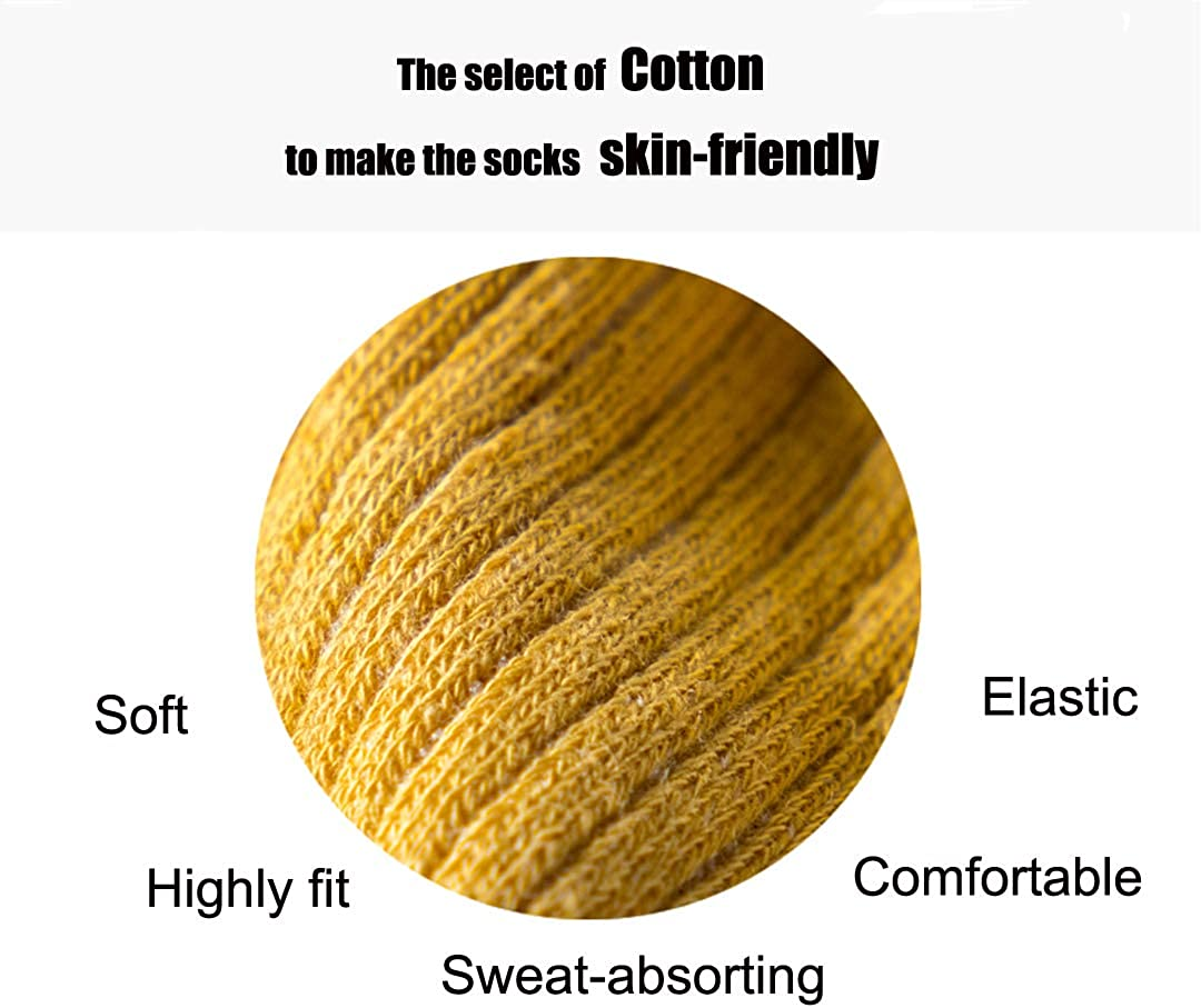 Comfy Quality Soft Breathable PURE Cotton Socks for Men & Women 6 pack