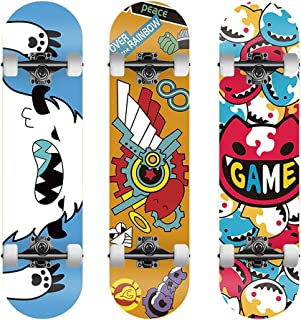 Bono-suka SK EIGHT エスケーエイト スケートボード スライド可能 初心者 大人のスケートボード 馳河ランガ 历レキ MIYA スケートボード 両端が反る 79*19cm コスプレ道具 撮影用 お出かけ(历レキ REKI)