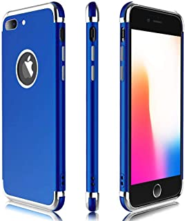 "iPhone 8 Plus Case / 7 Plus Case, Meifigno 3 in 1 Hybrid Stylish Case,[Compatible with Wireless Charging], Urtal Silm Soft TPU & Hard PC Frames, for Apple iPhone 5.5"" 8P (2017)/ 7P (2016)- Navy Blue"