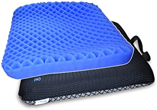 Bingyee Gel Seat Cushion 1.8 Inch Thick Double Gel Orthopedic Seat Cushion Pad for Pressure Relief Breathable Gel Sits Per...