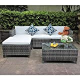Patioroma 5-piece Wicker Rattan Furniture Set