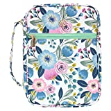G-LEAF Bible Cover Case/Book Cover Floral Pattern with Handle Fits for Standard Size Bible...