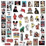 104 piezas Supreme Stickers Graffiti adhesivo de vinilo calcomanía Pegatinas a Prueba de Agua Etiqueta Engomada del Coche, Etiqueta Engomada del Monopatín, Etiquetas Engomadas del Ordenador Portátil