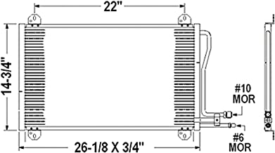 OE Replacement A/C Condenser DODGE VAN DODGE SPRINTER 2003-2006 (Partslink CH3030213)