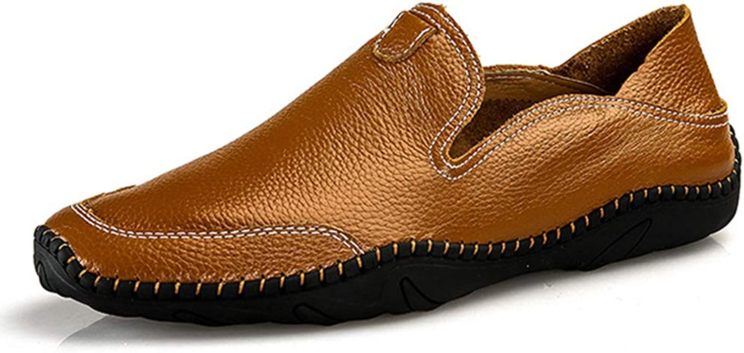 Men's Loafers Comfort Beanie shoes Microfiber Leather Casual shoes Breathable Flat shoes