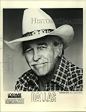 Vintage Photos 1990 Press Photo Entertainer Howard Keel Stars as Clayton Farlow in Dallas