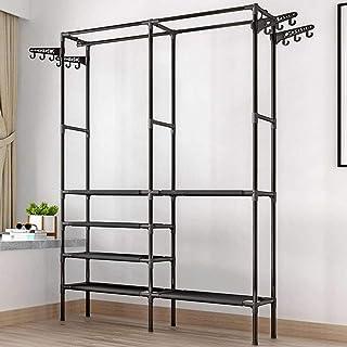 JHDDP3 Armoire Simple Style Vêtements Rack Plancher Debout Vêtements Debout Suspension de Rangement coloré Étagère de Rang...