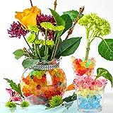 Miuezuth Wasserperlen Mix Wasserkugeln Aquaperlen Orbeez Aqualinos, Wassergel-Kugeln Deko für Hochzeit Party, Tisch Dekoration Gelperlen für Blumen Pflanzen und Vasen Wiederverwendbar, DIY Geschenk - 6