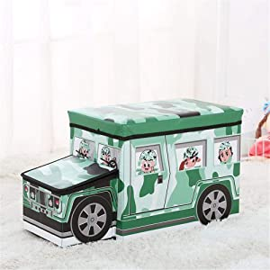 KANGJIABAOBAO Toy Storage Box Collapsible Jumbo Storage Box Folding Storage Chest Kids Room Tidy Toy Box Perfect For Household Storage  Fabrics Childrens Toy Box  Color Green  Size Free size