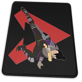 Red Apex-icon Mouse Pad with Stitched Edge, Premium-Textured Mouse Mat, Non-Slip Rubber Base Mousepad for Laptop,Computer & PC, Office & Home, 7.9 X 9.5 in