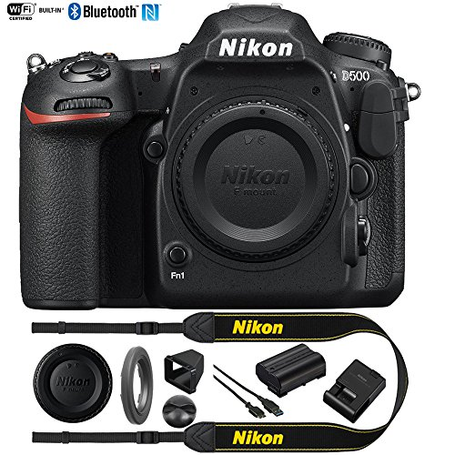 Nikon D500 20.9 MP CMOS DX Format Digital SLR Camera Body (1559B) with 4K Video - (Renewed)