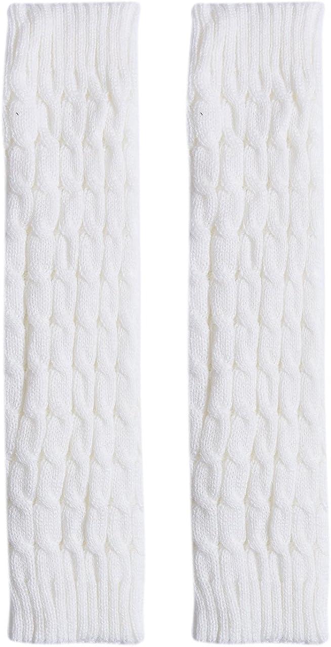 Mubineo Women Girls Fall Winter Warm Crochet Cable Knit Leg Warmers