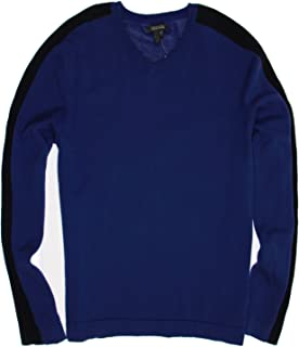 Kenneth Cole Reaction 'Give Me a V!' Men's Purple Color Block Full Zip Sweater