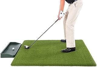 All Turf Mats Super Tee Golf Mat with Tray - 5 feet x 5 feet