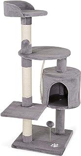 dibea Árbol rascador para Gatos, 112 cm (Gris Claro