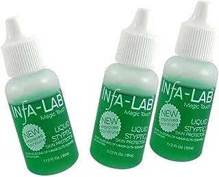 3 X Infa-Lab Magic Touch Liquid Styptic Nails Stop Bleeding Skin   0.5 fl oz ,15 ml