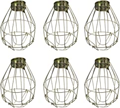 Uonlytech 6pcs Metal Lamp Bulb Guard Clamp Vintage Light Cage Hanging Industrial Lamp Covers Pendant Decor for Home Bar
