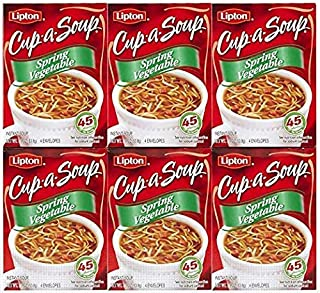 Lipton Cup-A-Soup Spring Vegetable, 4 ct, 6 pack