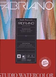 "Fabriano Studio Watercolor Paper 90 lb. Cold Press 100-Sheet Pack 9x12"""