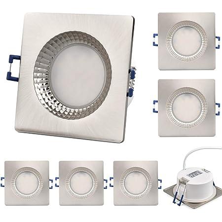 KYOTECH LED Spot encastré Extra plat 6W 500LM Spots de Plafond Blanc Chaud 3000K étanchéité IP65 Plafonnier Encastré,Eclairage led encastrer salle de bain Couloir lot de 6