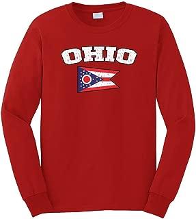 Men's Ohio State Flag Long Sleeve T-Shirt