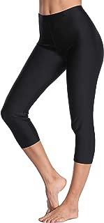 Women's Long Swim Shorts Swim Pants Capris UPF 50+ Water Outdoor Sport Leggings