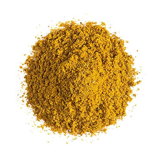 Selección de especias indias orgánicas imprescindibles - Principales especias de la cocina india - Anís estrellado, nuez moscada, canela, cúrcuma, albahaca morada